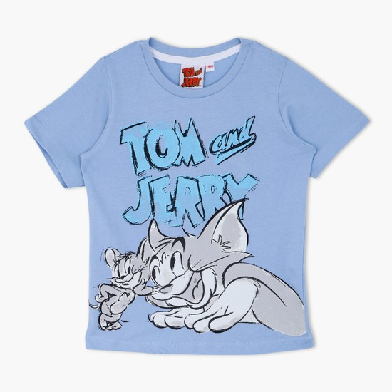 Tom and Jerry Printed Round Neck T-Shirt