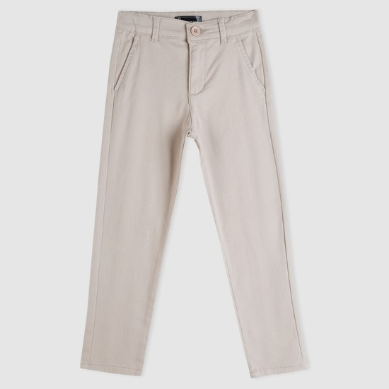 Full Length Chinos with Button Closure