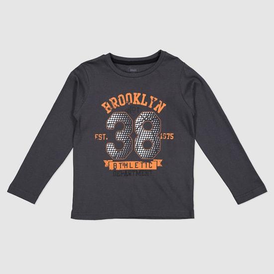 Printed Crew Neck Long Sleeves T-Shirt