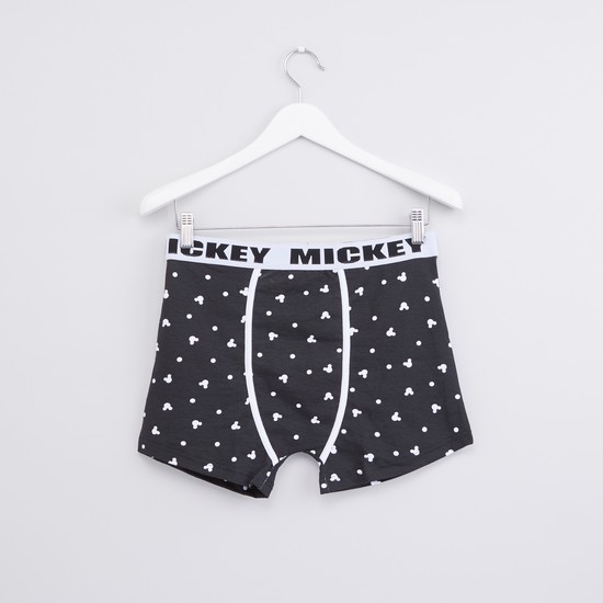 Mickey Mouse Printed Boxer Briefs - Set of 2