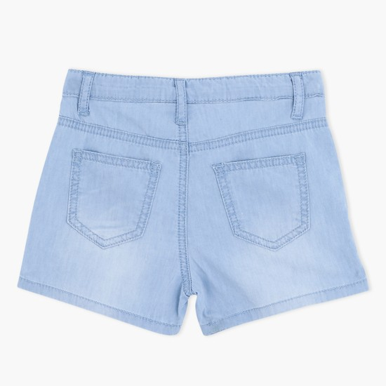 Denim Shorts with Embroidered Detailing