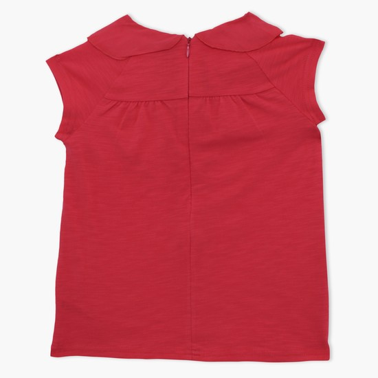 Sleeveless Top with Zip Closure
