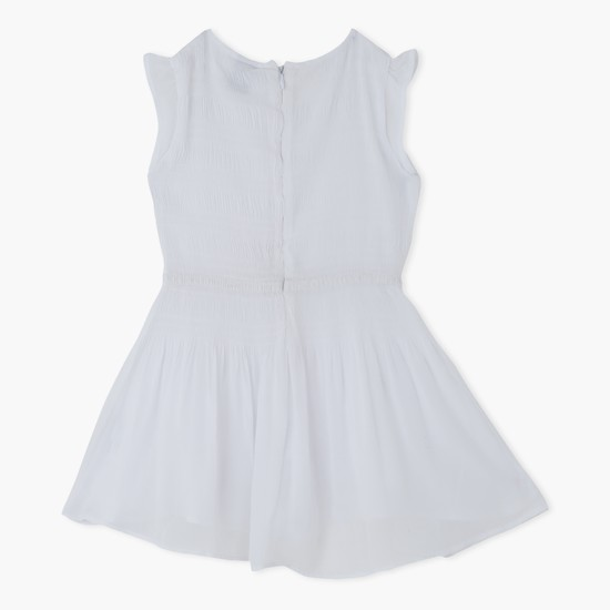 Round Neck Dress with Cap Sleeves
