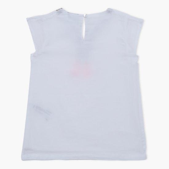 Embellished Short Sleeves Top