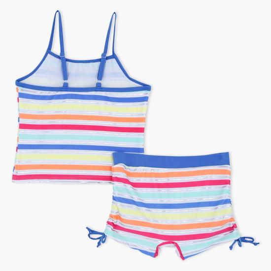 Striped 2-Piece Swimsuit