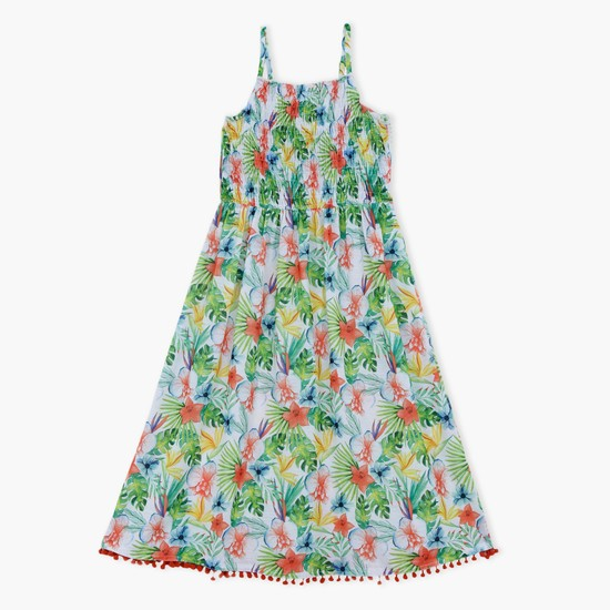 Printed Dress with Spgaghetti Straps
