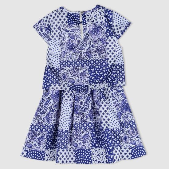 Printed Round Neck Dress