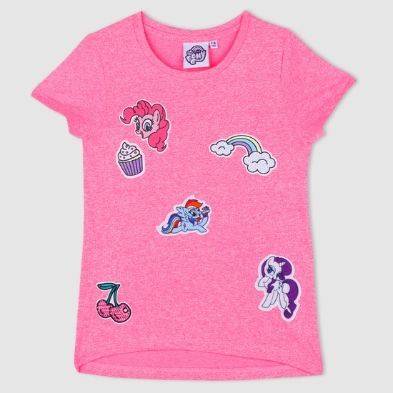 My Little Pony Cap Sleeves T-Shirt with Badge Appliques