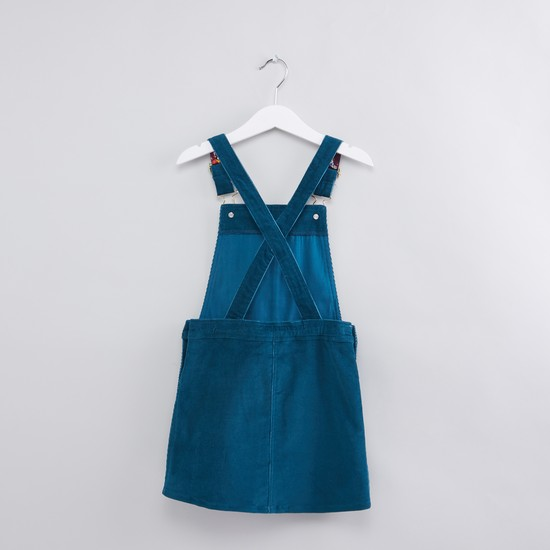 Embroidered Dungaree Dress