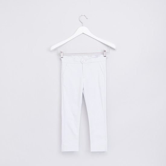 Pocket Detail Trousers with Button Closure
