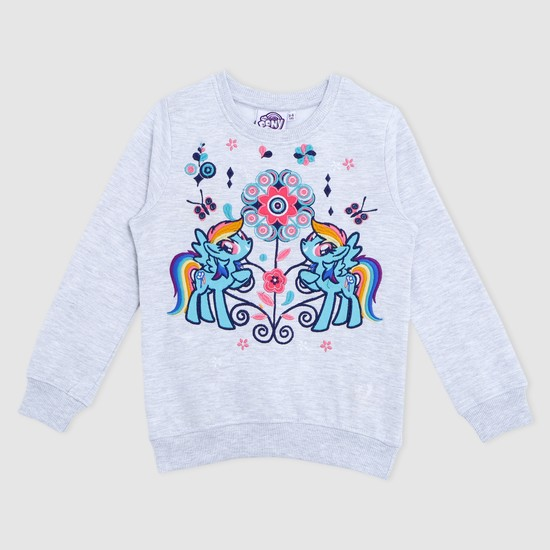MLP Embroidered Long Sleeves Sweat Top