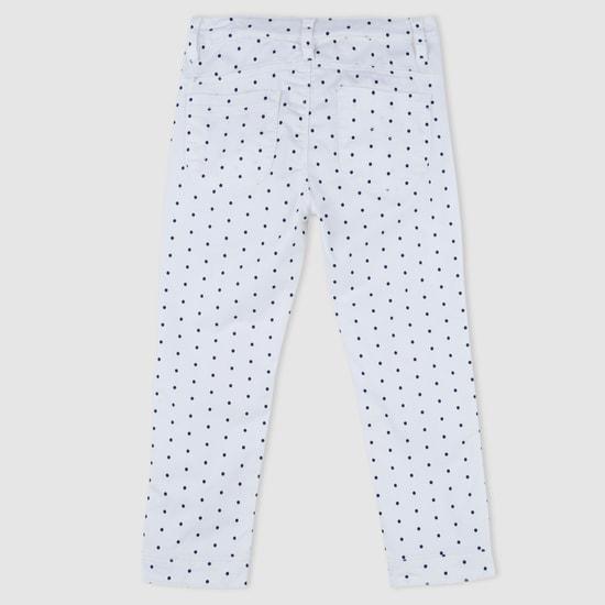 Hello Kitty Polka Dot Print Woven Capris
