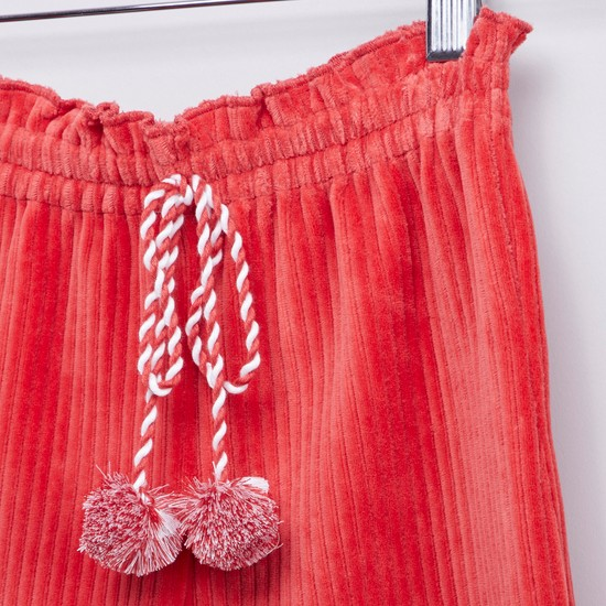 Textured Culottes with Elasticised Waistband and Drawstring