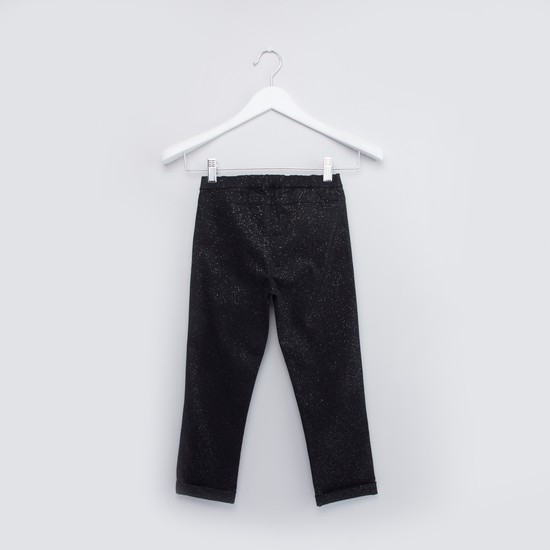 Speckled Pants with Elasticated Waistband
