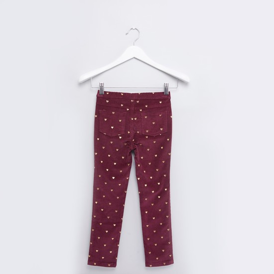 Full Length Printed Pants with Elasticated Waistband