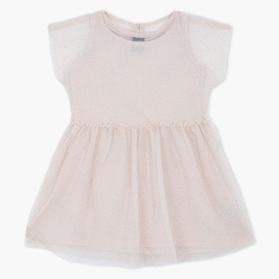 Woven Short Sleeves Dress