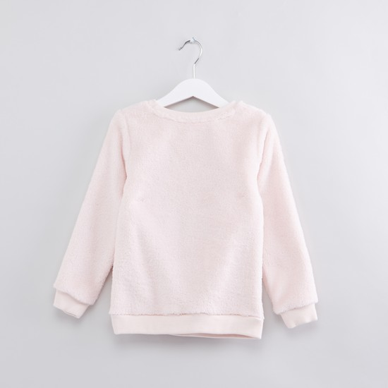 Hello Kitty Embroidered and Textured Sweater