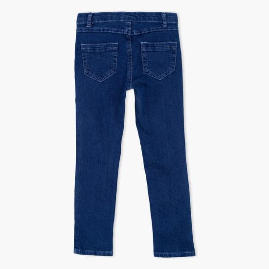 بنطال جينز طويل بزر إغلاق