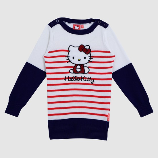 Hello Kitty Textured Long Sleeves Top