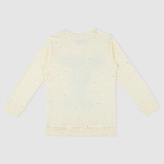 Tweety Print Sweatshirt with Long Sleeves