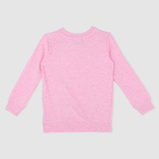 Printed Sweatshirt with Long Sleeves and Pocket