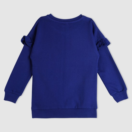 Embroidered Round Neck Sweat Top