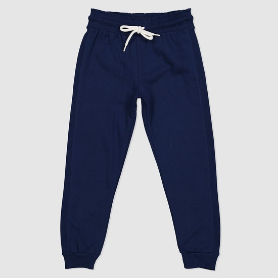 Full Length Knit Jog Pants with Drawstring