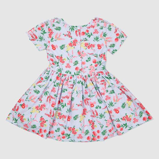 Floral Print Short Sleeves Dress