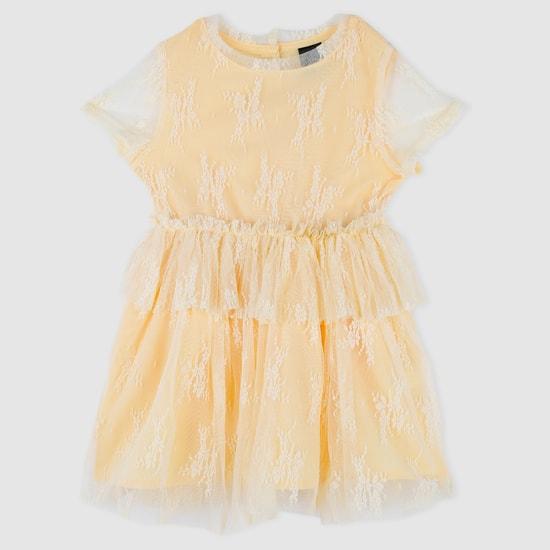 Mesh Short Sleeves Dress