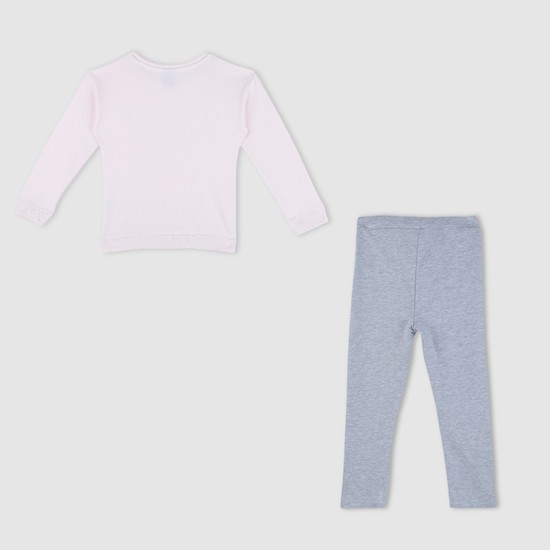 Printed T-Shirt and Leggings Set