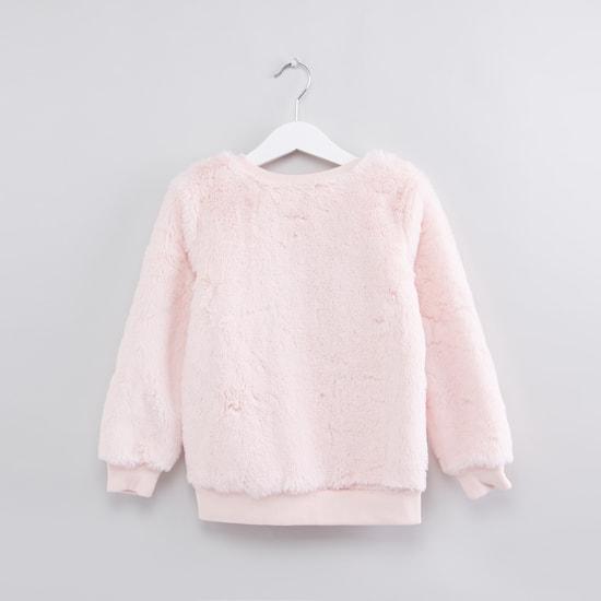Textured Long Sleeves Sweatshirt