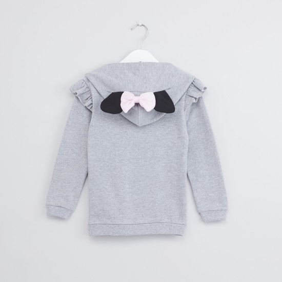 Minnie Mouse Printed Long Sleeves Ruffle Detail Sweat Top