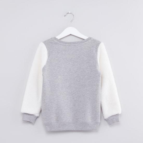 Embellished Round Neck Sweatshirt
