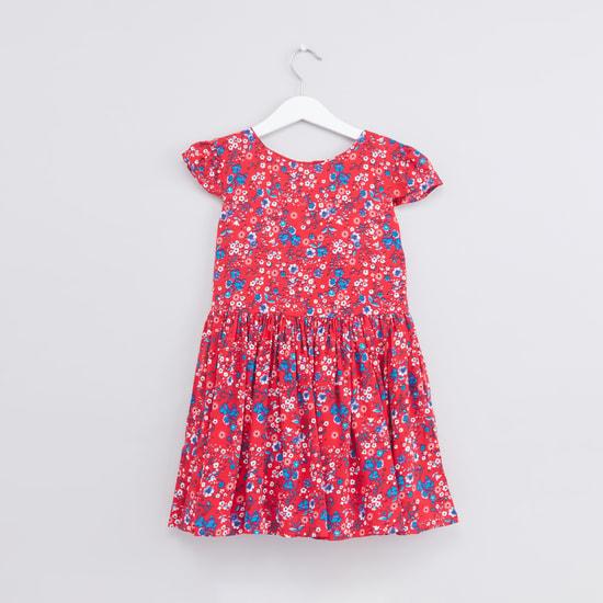 Printed Dress with Long Sleeves Sweatshirt