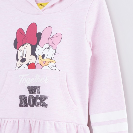 Minnie Mouse and Daisy Duck Printed Long Sleeves Dress