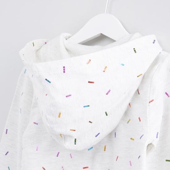 Printed Jacket with Zip Closure and Hood