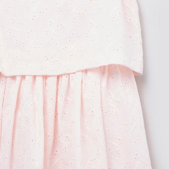 Schiffili Embroidered  Sleeveless Popover Dress