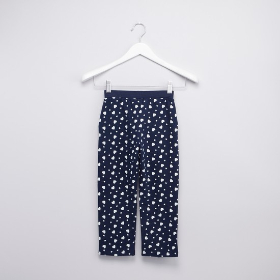 Printed Pants with Pockets and Elasticated Waistband
