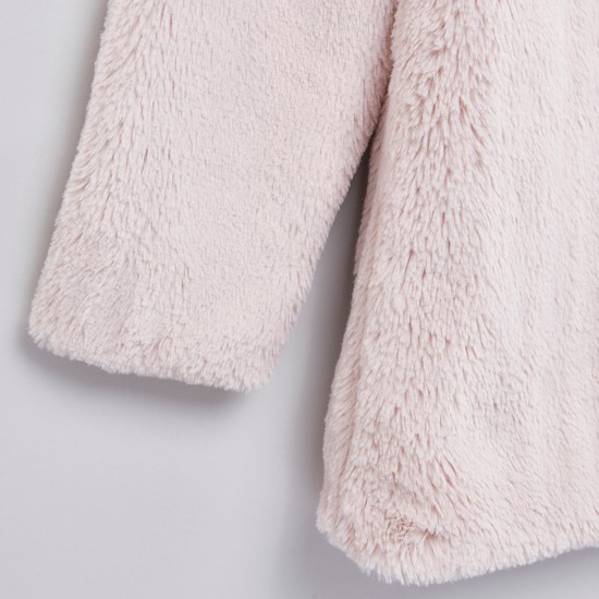 Plush Detailed Jacket with Long Sleeves
