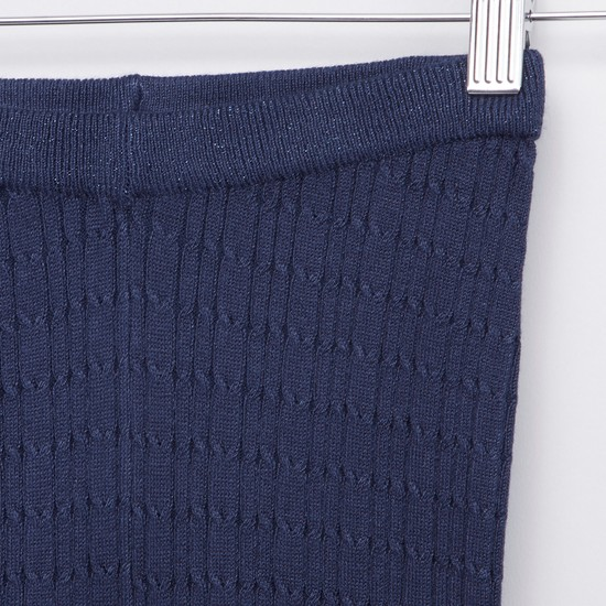Textured Sweater Leggings with Elasticised Waistband