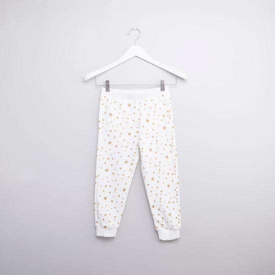 Printed Long Sleeves Hoodie with Full Length Jog Pants