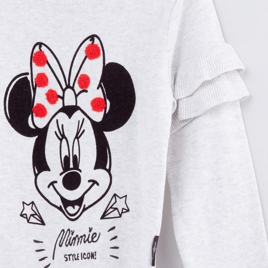 Minnie Mouse Printed Long Sleeves Sweatshirt