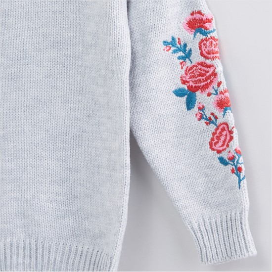 Embroidered Long Sleeves Sweater