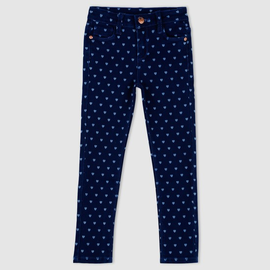 Heart Print Full Length Pants