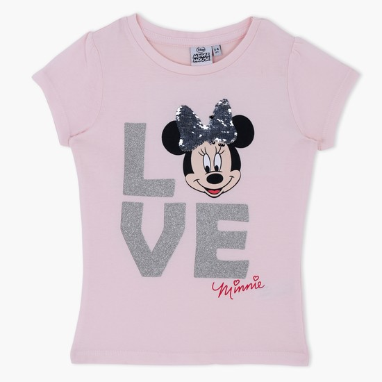 Minnie Mouse Printed Short Sleeves T-Shirt