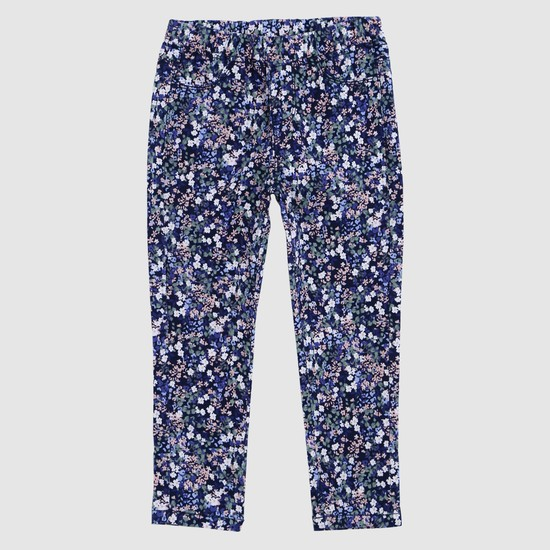 Printed Woven Pull-On Trousers