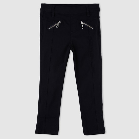 Woven Pull-On Trousers with Elasticised Waistband