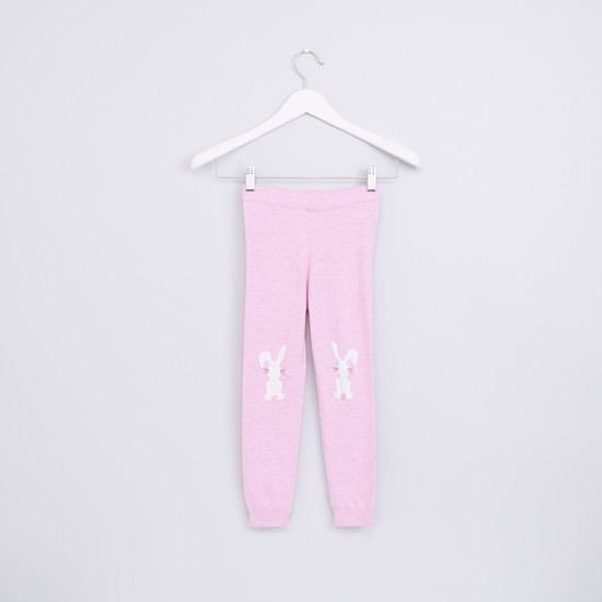 Full Length Embellished Jog Pants with Elasticised Waistband