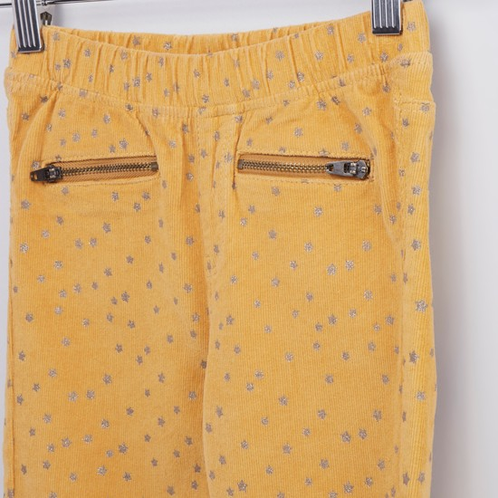 Full Length Printed Pants with Pocket Detail