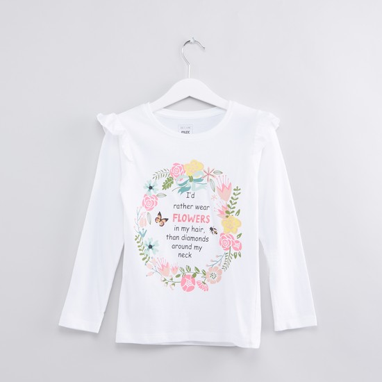 Printed Long Sleeves T-Shirt